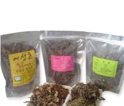 유기농어성초건초(300g(1봉지),자소엽 150g ,녹차150g